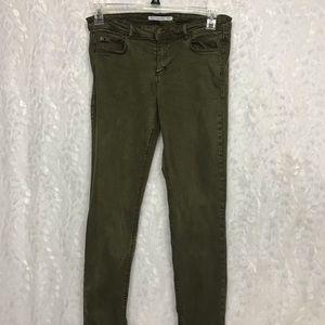 Zara Trafaluc Denimwear green skinny 10